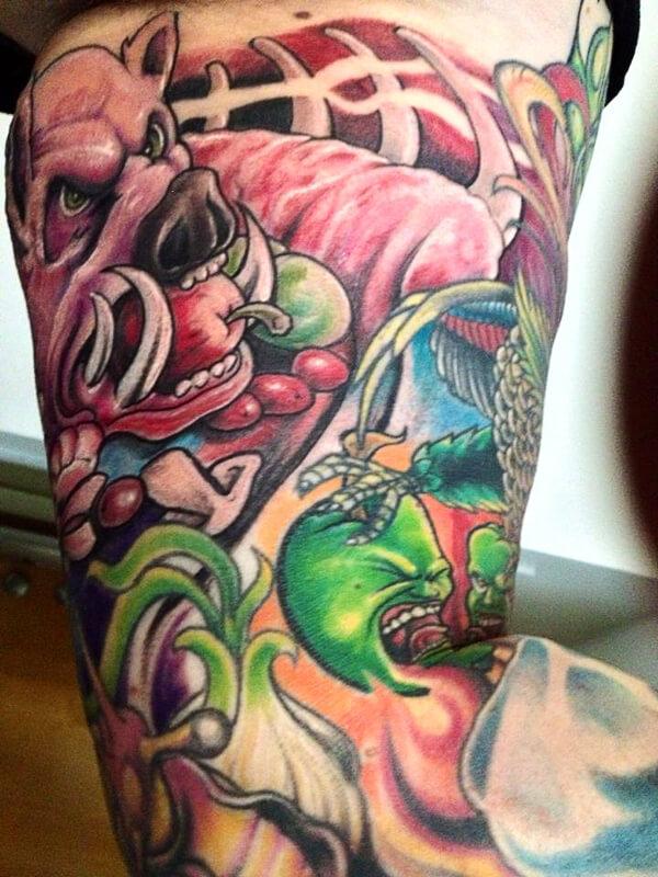 boar tattoo