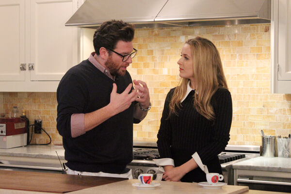 Scott Conant and Cristina Cote