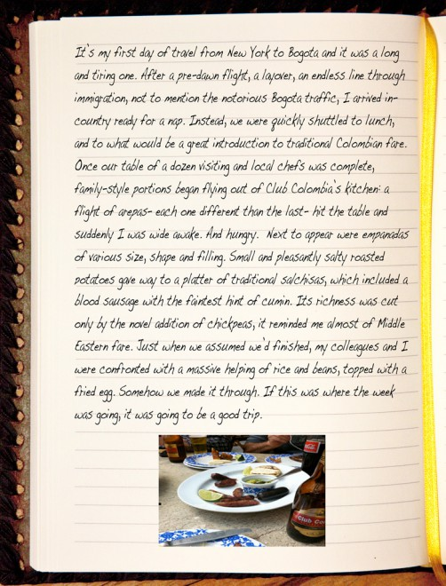 Chef Michael Laiskonis' Colombia, Excerpts from a Diary