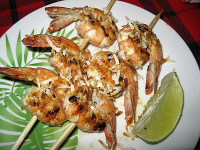 Coconut Lime Shrimp Skewers - Justin Warner