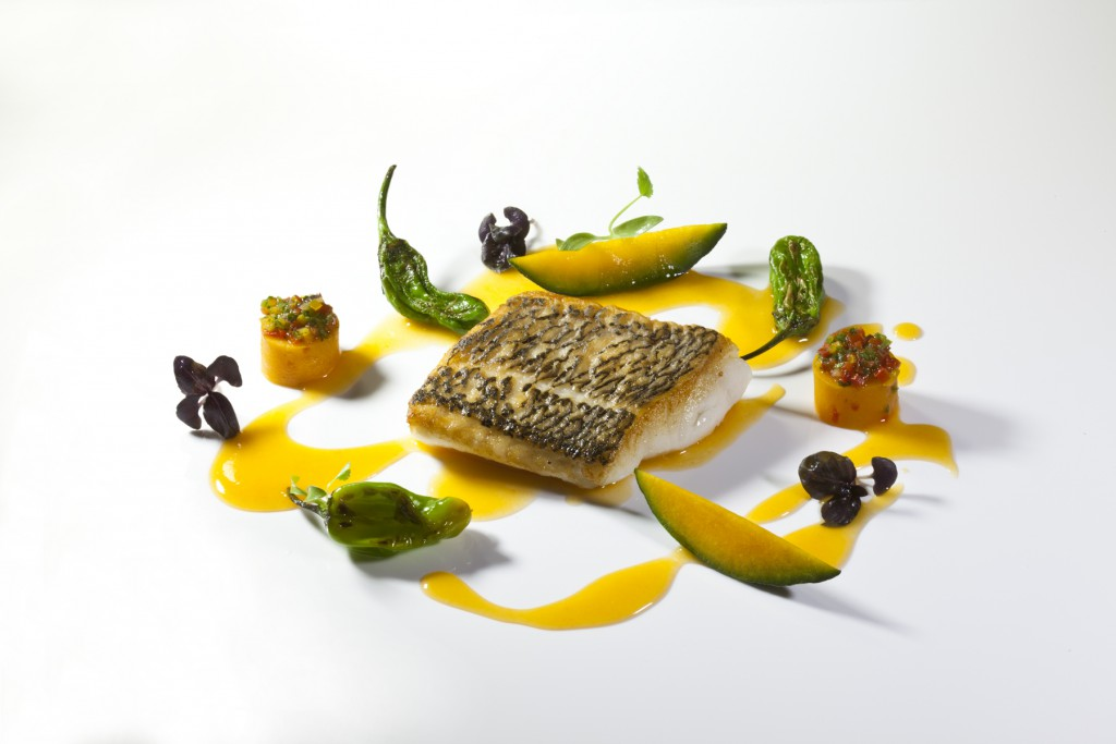 Chef Eric Ripert's Black Bass with Ceviche & Chicha Sauce