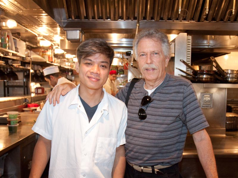 Executive Chef Hung Huynh with Battman, at Catch in NYC
