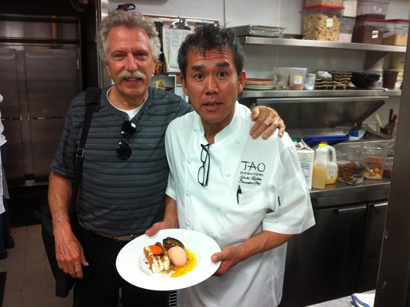 Battman with Yoshi Kojima, Executive Chef at Tao Downtown