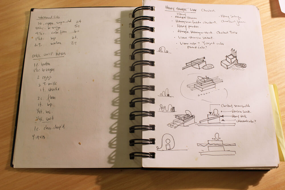 Pages from one of Jansen Chan's notebooks