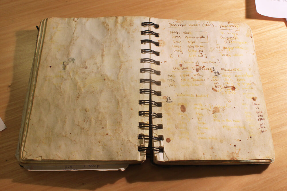 notebook page from Jansen Chan