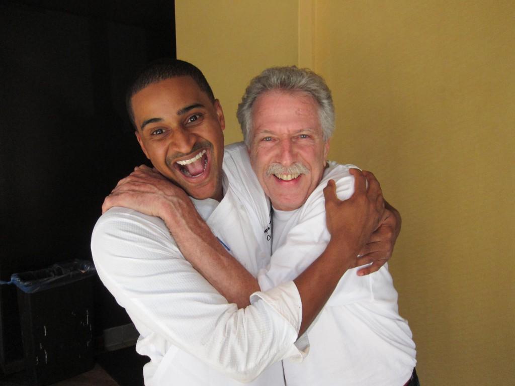"Chef JJ Johnson with Alan ""Battman"" Batt."