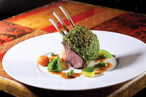 Rack of Lamb Persillade by Claude Godard. Photo by Battman.