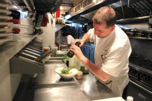 Chef Ed Cotton hard at work in his kitchen.