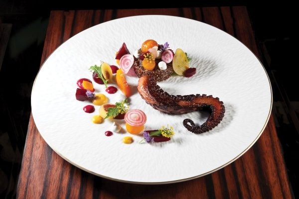 Charred Spanish Octopus by Marc Ehrler. Photo by Battman.