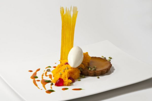 """Sneaky"" Pumpkin Pie by Pastry Chef Thiago Silva. Photo by Battman. Pies, cookbook, ebook"