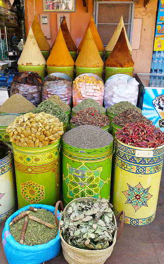 Spices being sold in Marrakesh. 2017