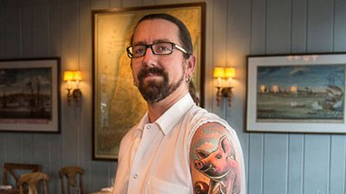 Steve Dustin and His Glorious Pig Tattoo