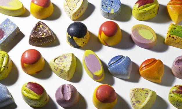 Chocolate Bonbons with Ganache by Antonio Bachour. Photo by Battman. Bachour eBook, 2017