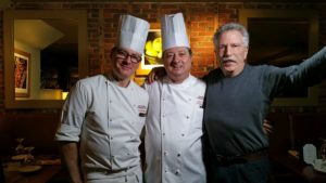 Battman with Chefs Andre Brunier and Jean Luc Gerin
