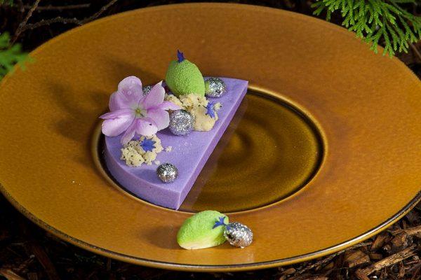 Blueberry Panna Cotta by Chef Genevieve Meli. Photo by Battman. Sweet Nature cookbook, ebook, 2016.