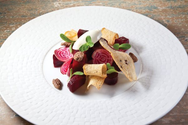 Beet Salad with Mascarpone by Guy Reuge. Photo by Battman. Master Chefs of France