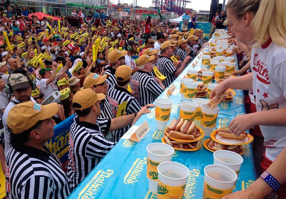 Nathans Famous Nyc Hot Dog Eating Contest