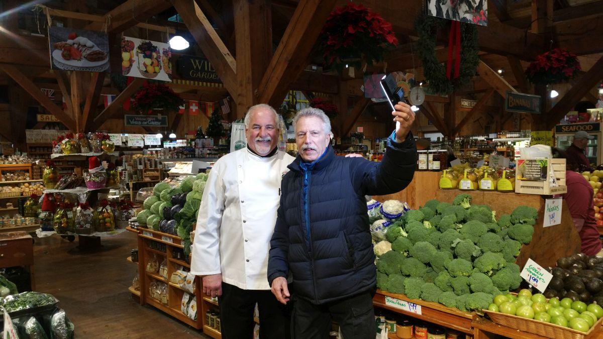 Chef Raymond Ost with Battman.