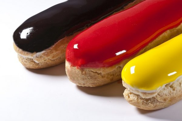 Mixed Eclairs, Choux Pastry, Bachour the Baker. Photo by Battman. cookbook