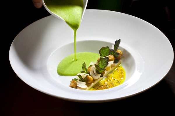 Frog's Legs Soup with Watercress by Chef Jean-Francois Bruel, Photo by Battman