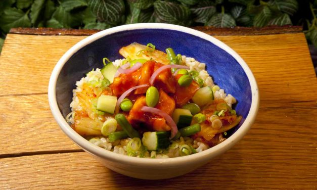 K Town Que with Chicken, by Chef Adin Langille. Photo by Battman.
