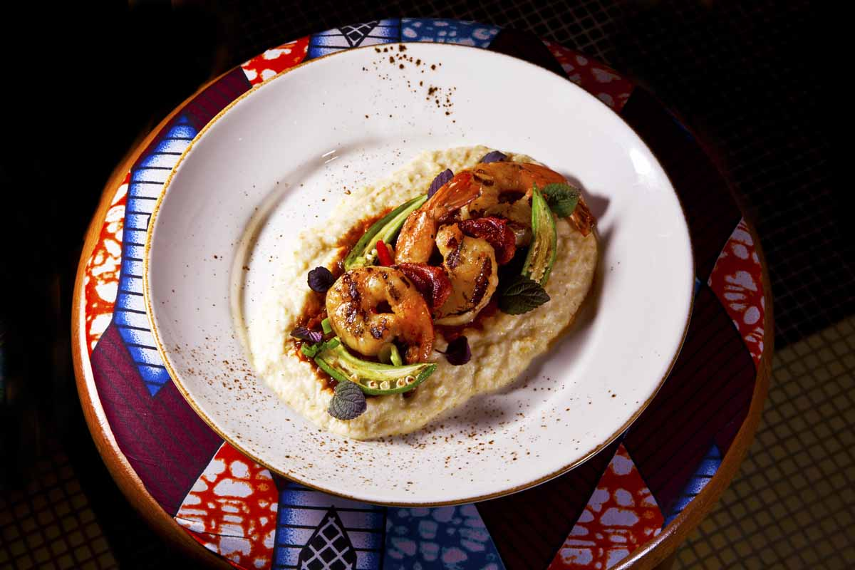 Shrimp and Grits from Chef Edward Brumfeld. Photo by Battman.