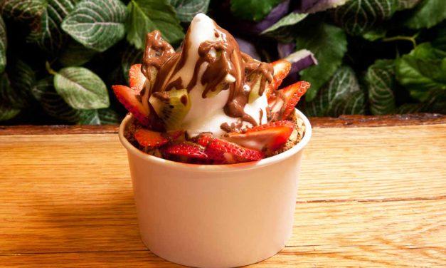 Strawberry Dream Frozen Yogurt by Chef Adin Langille. Photo by Battman.,