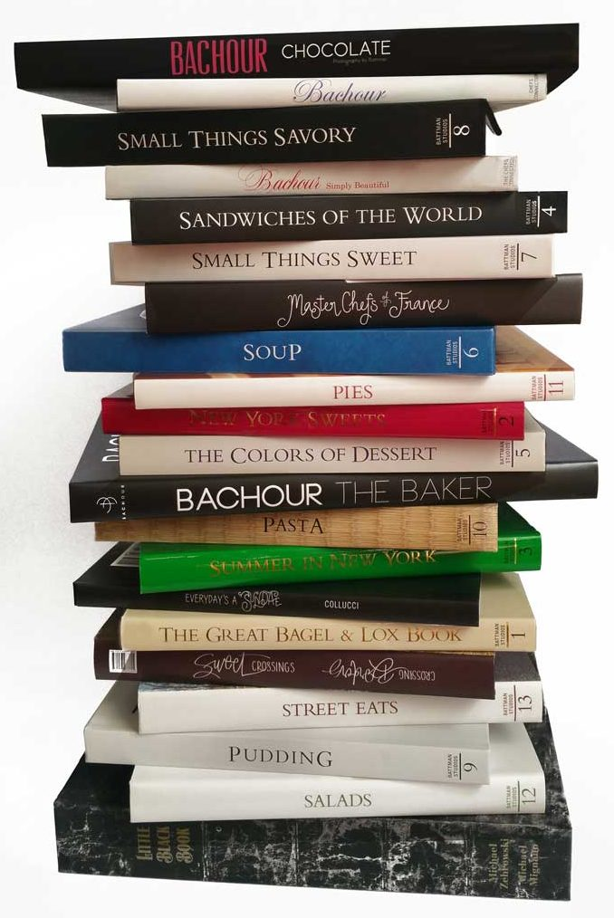 Collection of cookbooks from The Chef's Connection.
