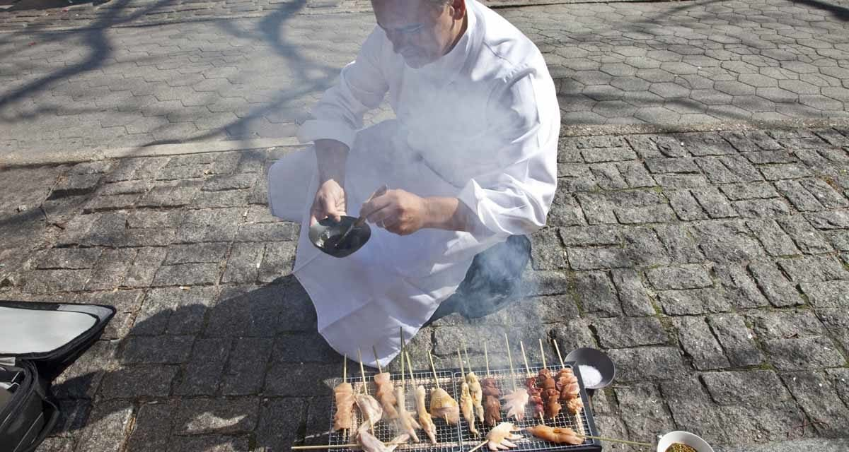 """Preparing a dish for the newest book """"Street Eats"""""""