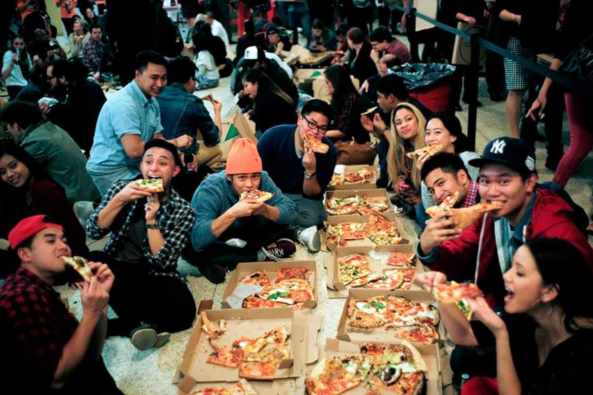 Dollar Pizza Party