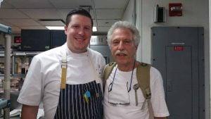Chef Scott Schneider of Michael White's Ai Fiori with Battman
