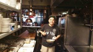 Chef Eric Kwan in the kitchen, Photo by Battman