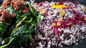 Grains, Roots, Beets Kobucha & Black rice by Chef Cleophus Hethington Jr. (Chef Ophus), Photo by Battman