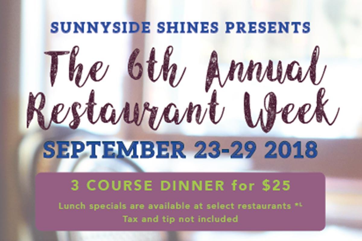 Sunnyside Restaurant Week