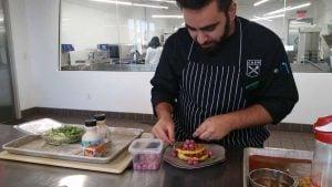 Thiago Silva making Corn Pancakes