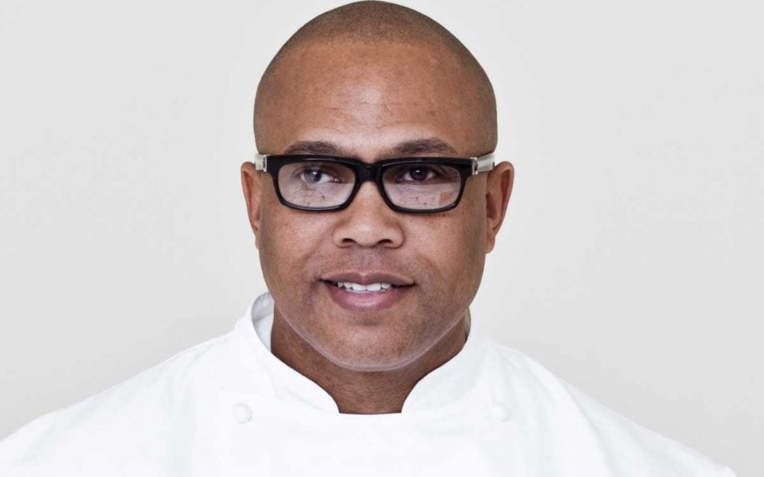 Photo of Chef Jeff Henderson, one of the chefs featured in the Toques in Black cookbook.