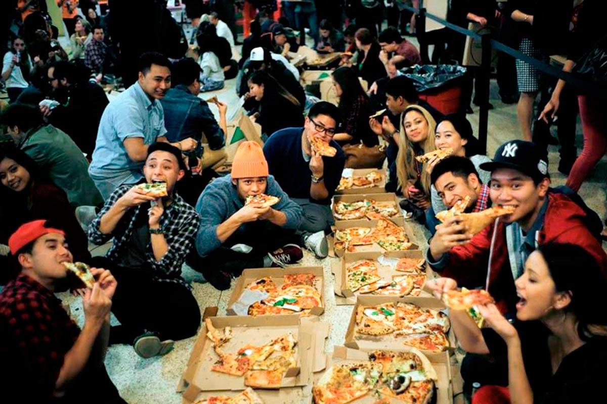 Slice Out Hunger's $1 Pizza Party