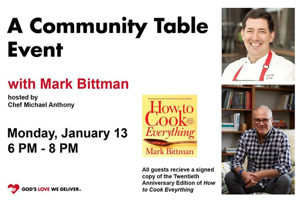 Community Table Event with Mark Bittman