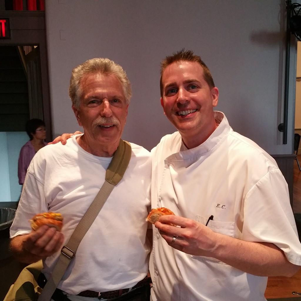 Battman with Chef Ed Cotton.